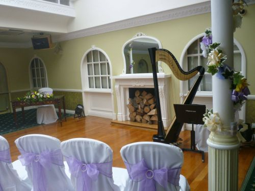 Harpist for weddings at Headlam Hall, Darlington